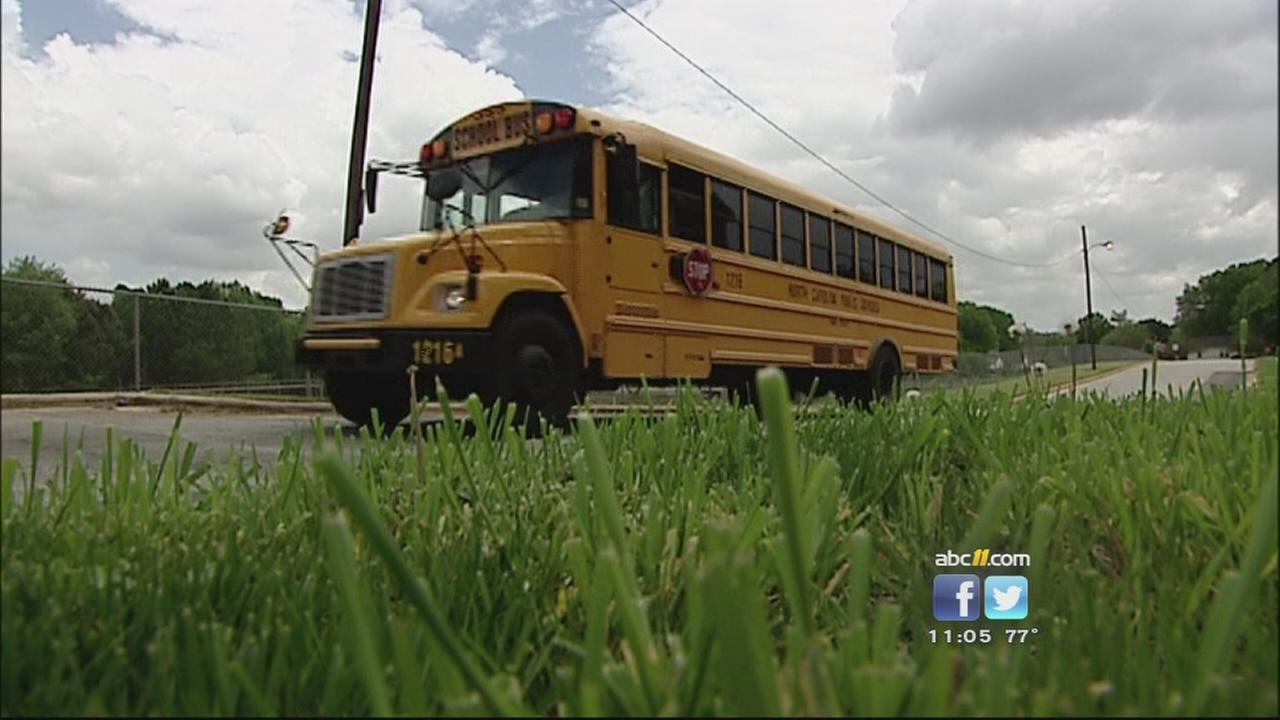 5-year-old assigned to Wake County middle school bus