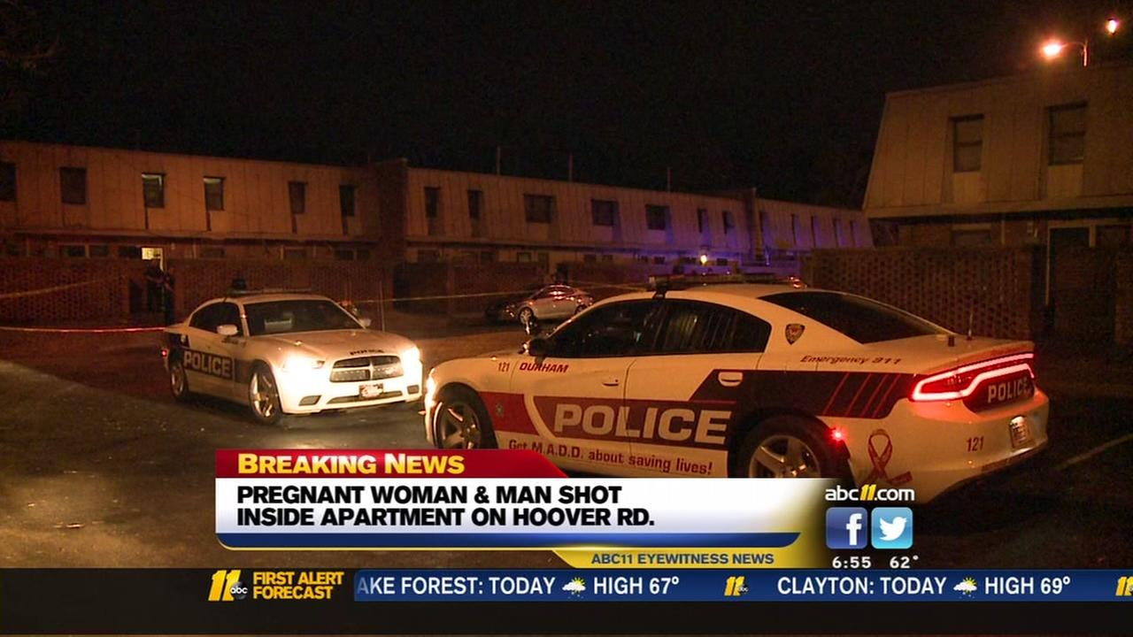 Pregnant woman, man shot inside Durham home