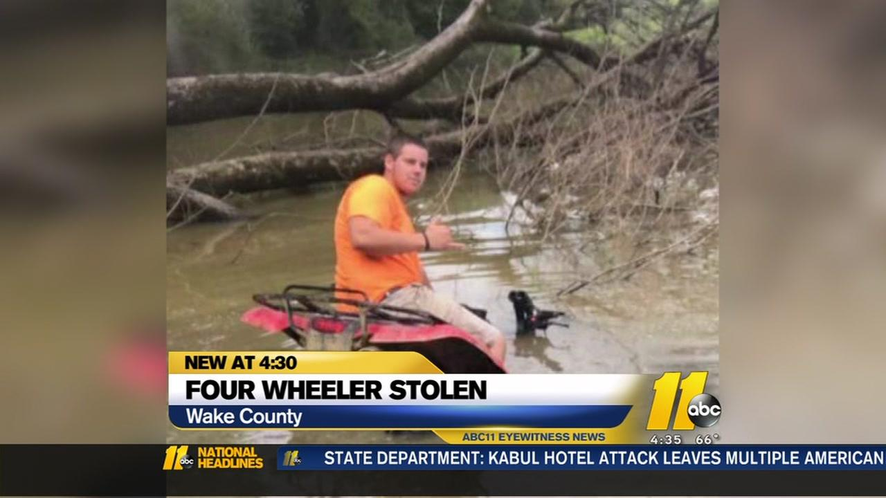 Late fathers four wheeler stolen