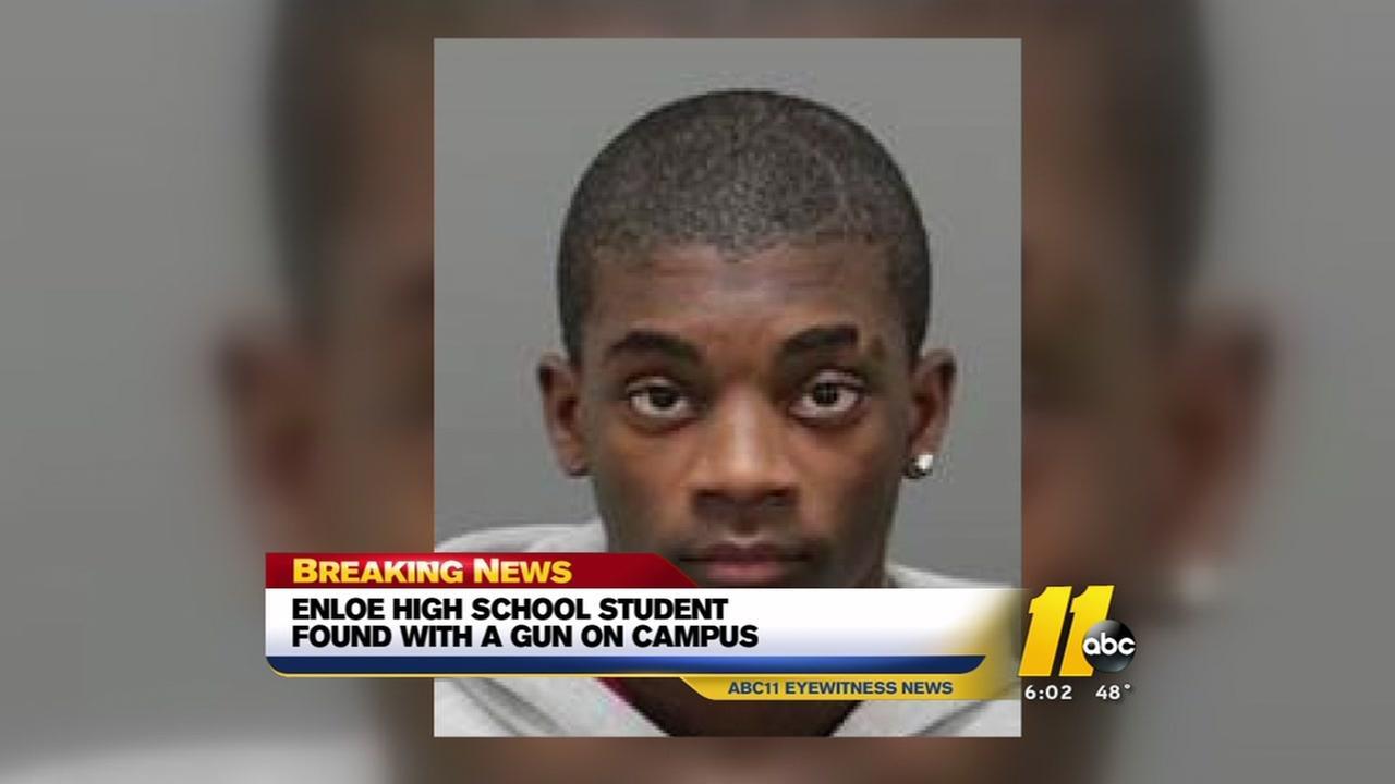 Enloe student found with gun on campus