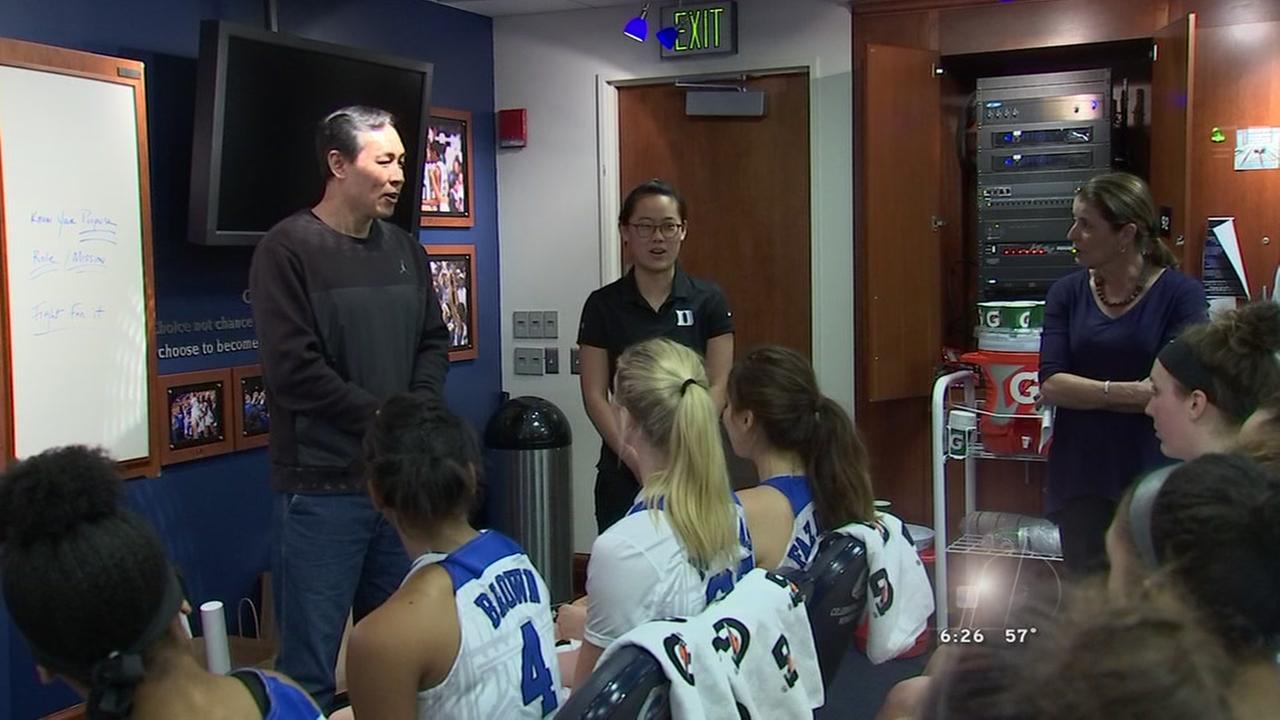 Duke and China basketball teams collaborate