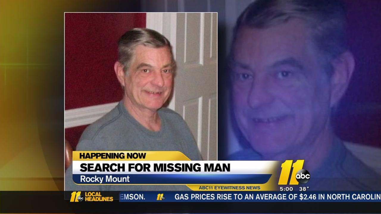 Search intensifies for missing man in Rocky Mount