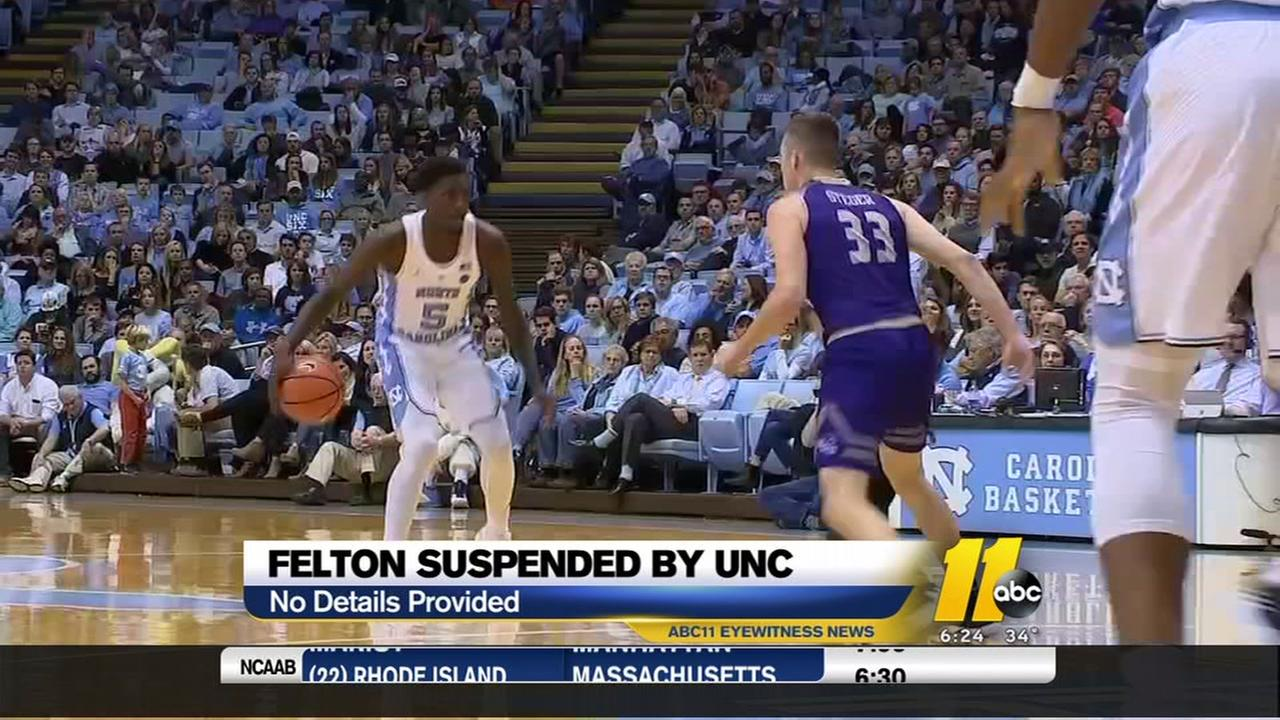 Felton suspended by UNC Chapel Hill