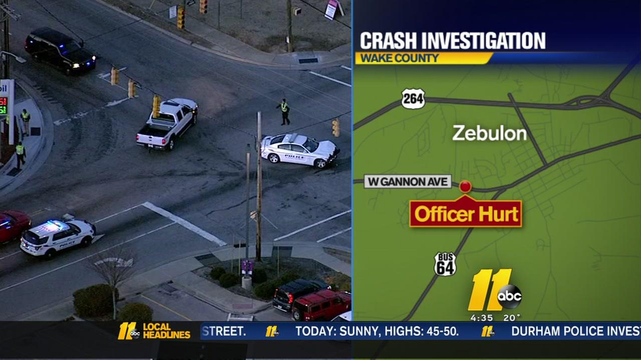 Zebulon police officer injured after man rams into his patrol car