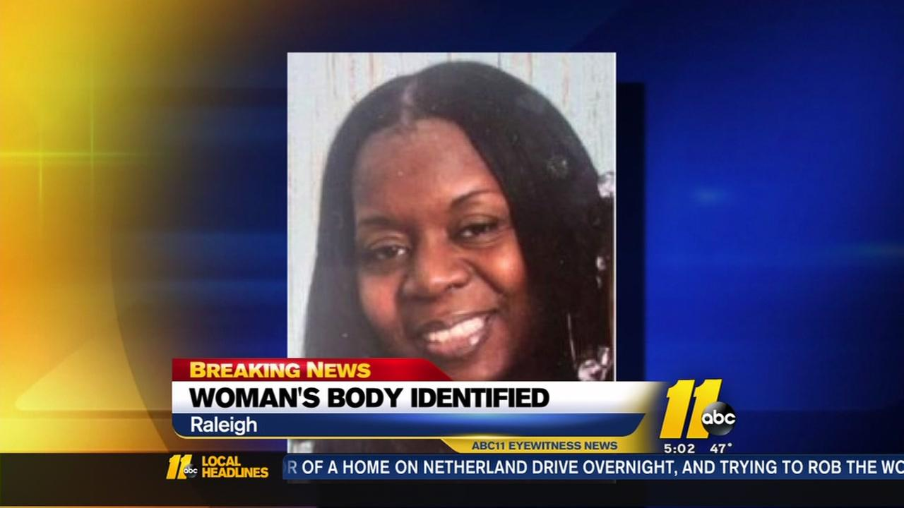 Womans body identified in Raleigh