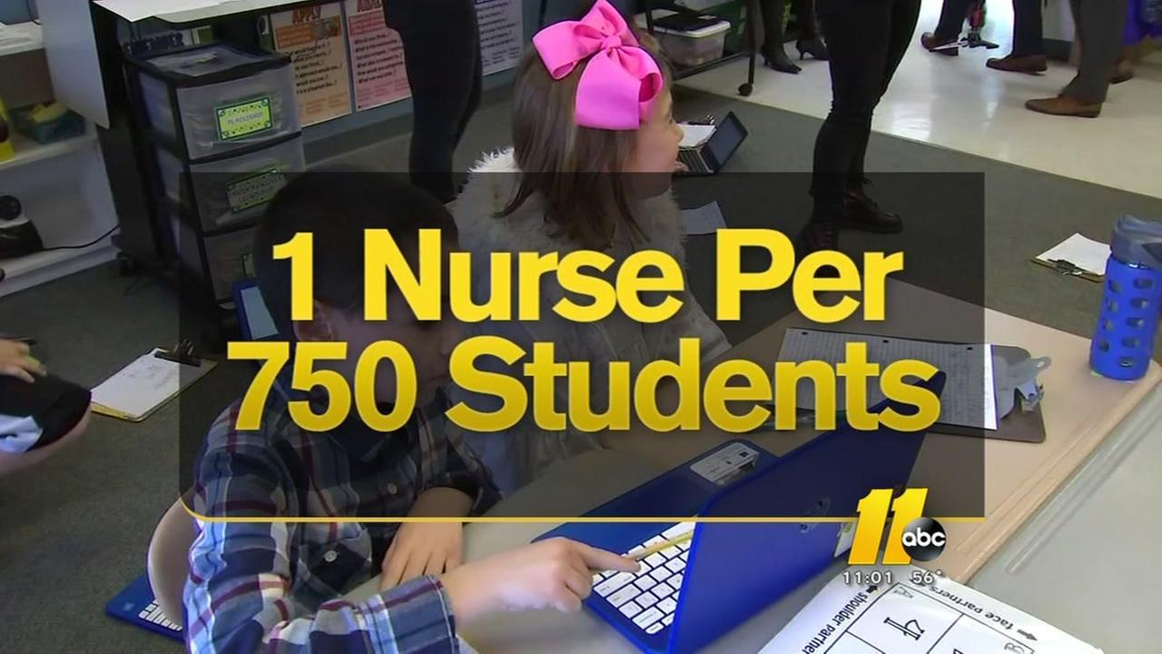 Report details nursing shortage at Wake County schools