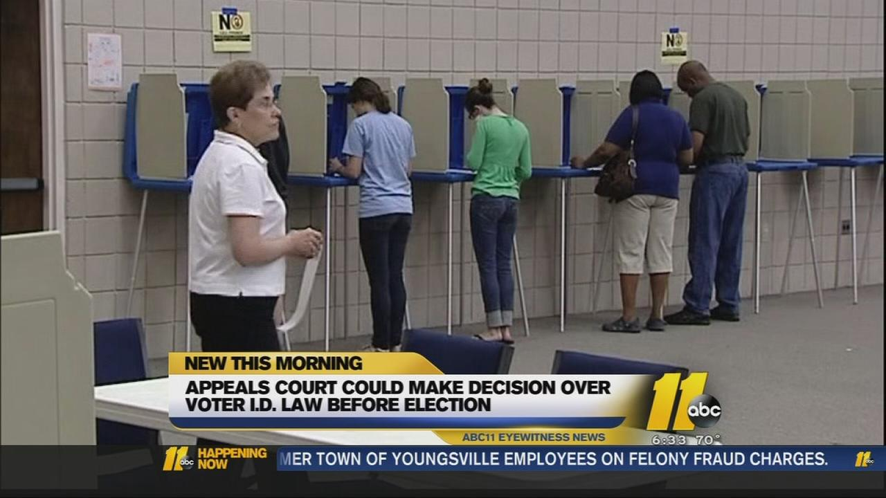 Appeals Court to hear arguments over new voter ID law