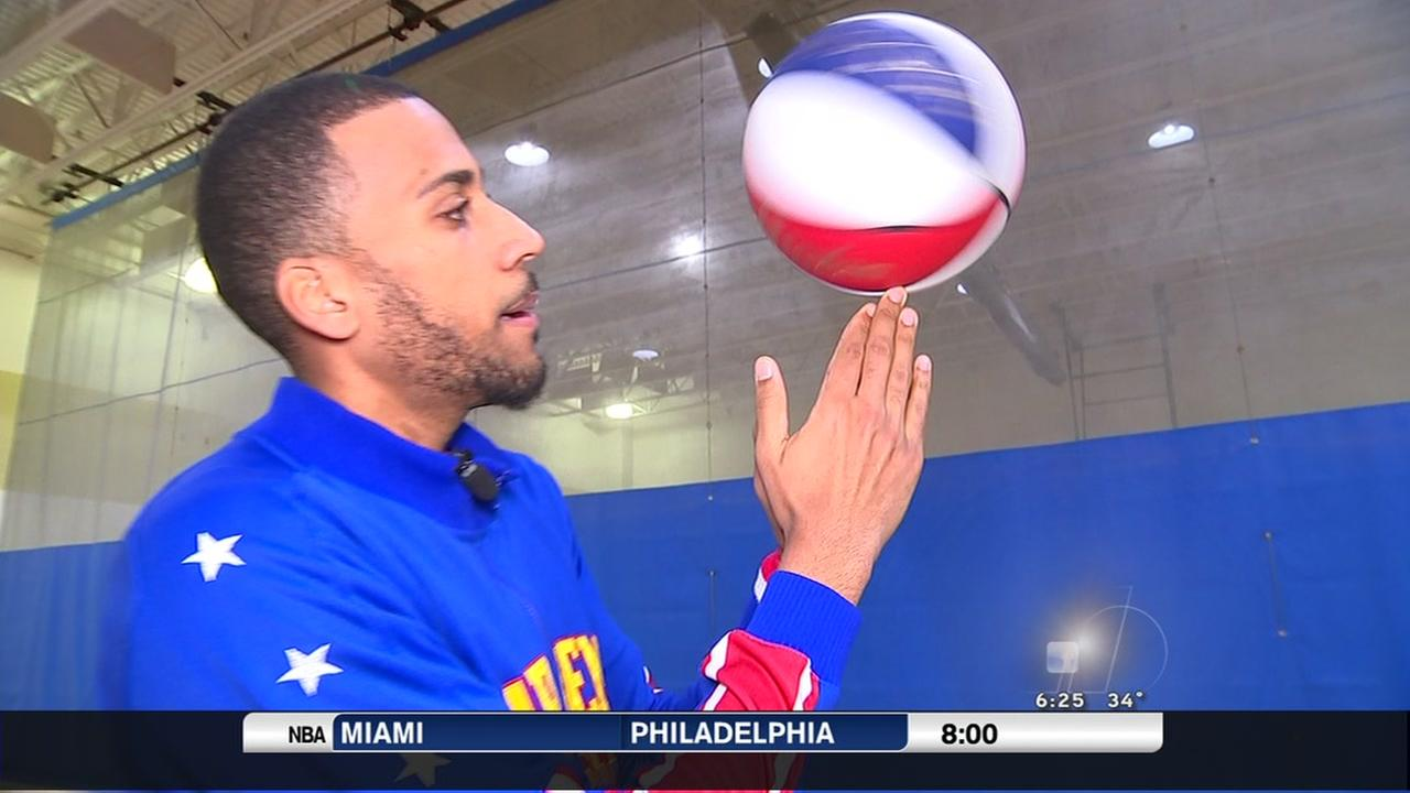 Globetrotters prepare for tour stop at PNC Arena