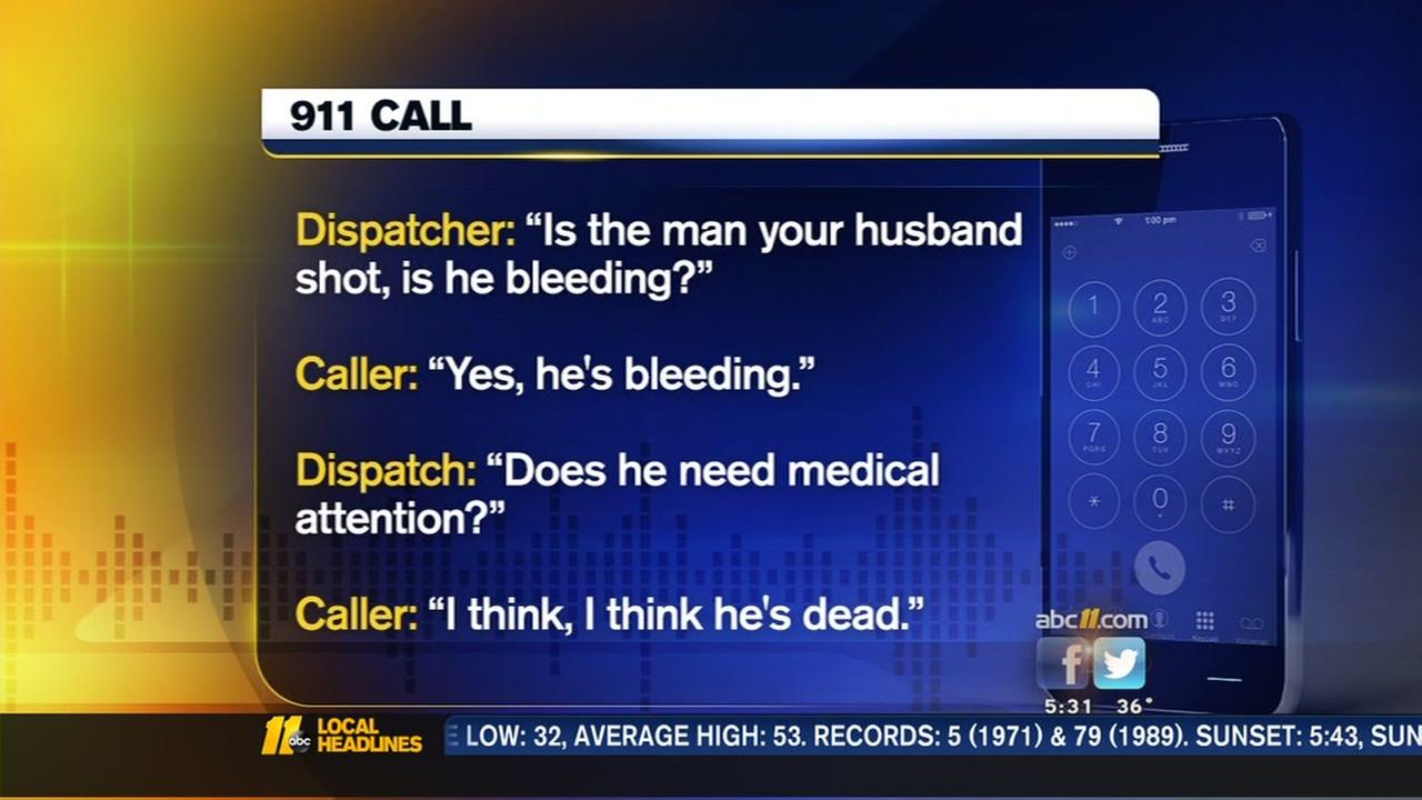 Fayetteville woman calls 911 in panic after her husband shoots would-be robber