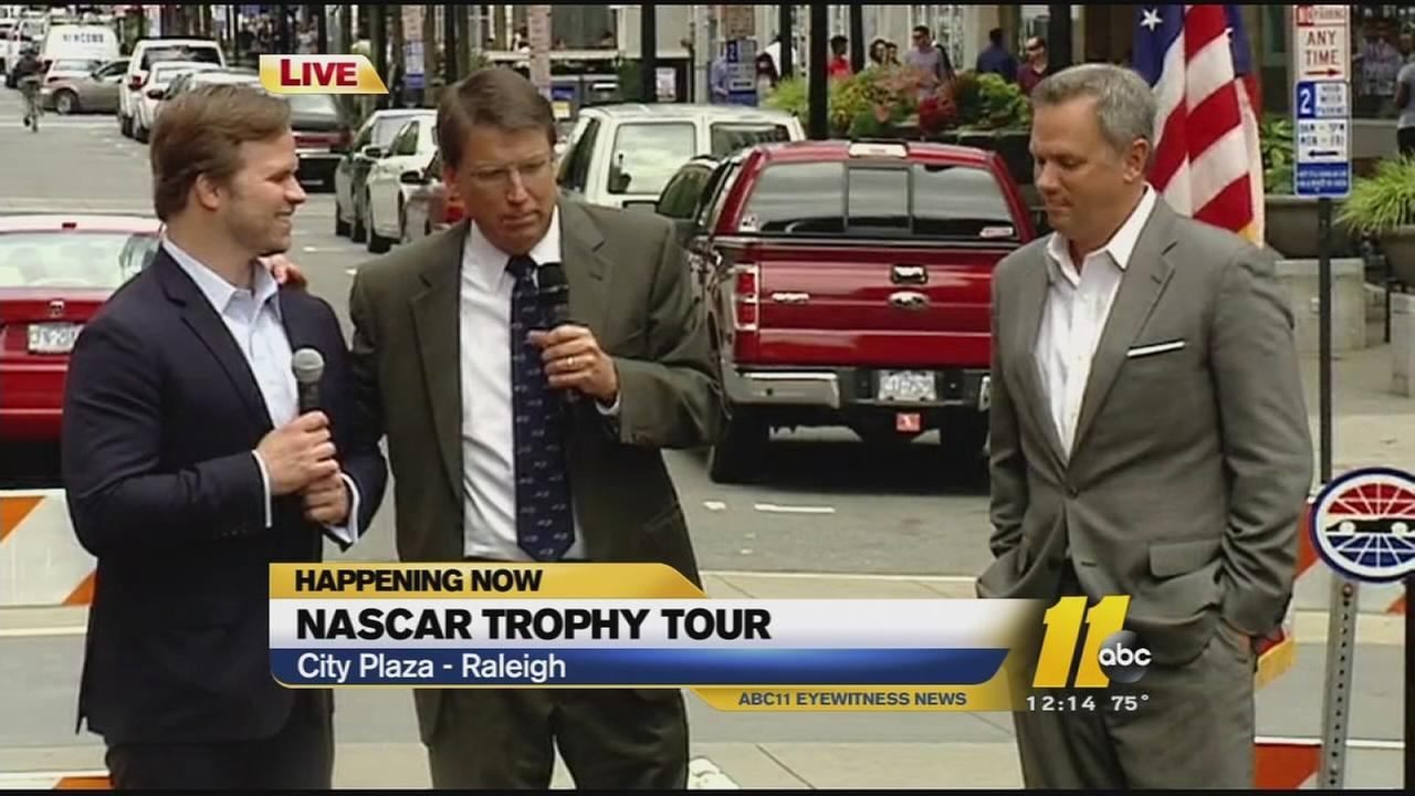 The Bank of America 500 Trophy Tour comes to Raleigh with Governor Pat McCrory