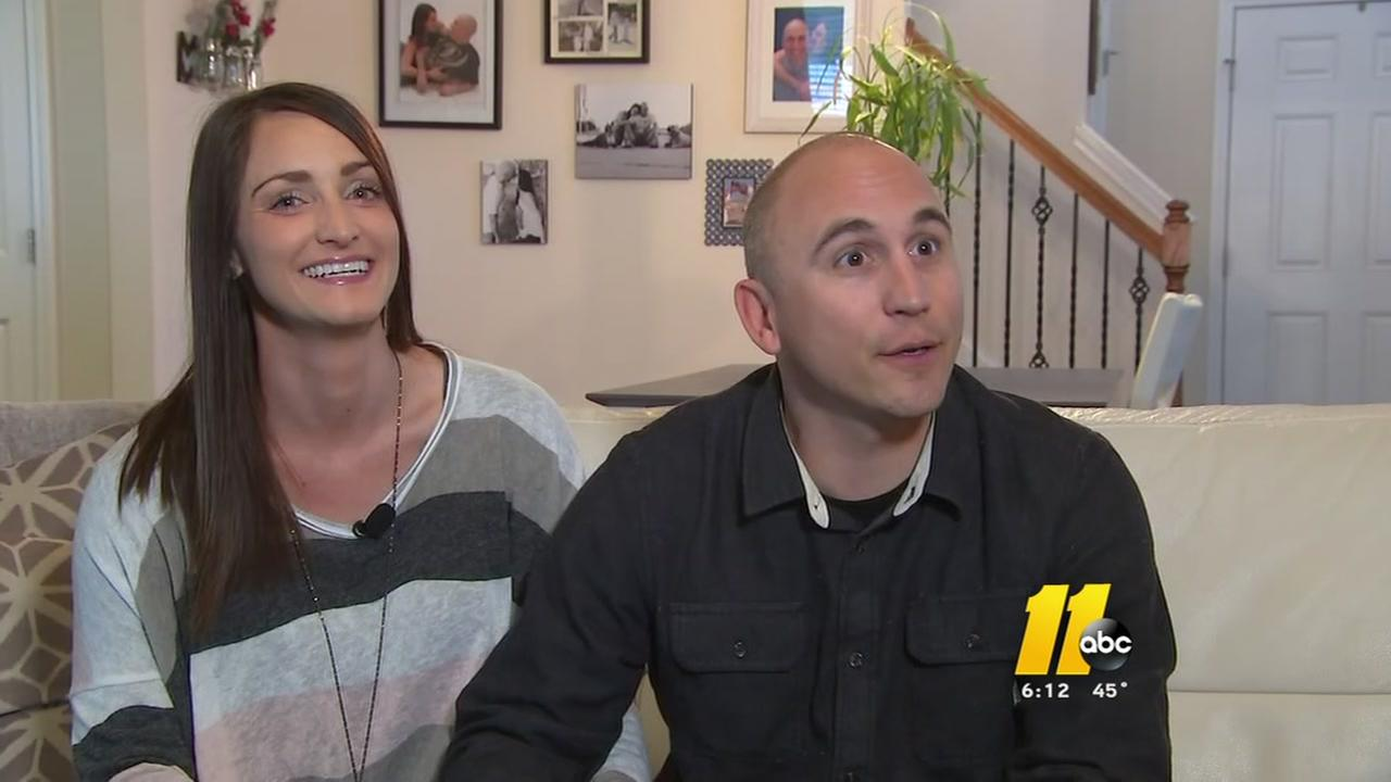 Raleigh couple thanks ABC 11 viewers for chance at parenthood