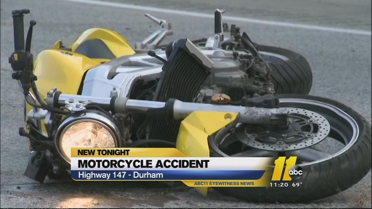 Motorcycle accident closes part of Durham Freeway
