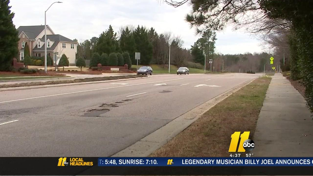 Potholes pop up across the Triangle