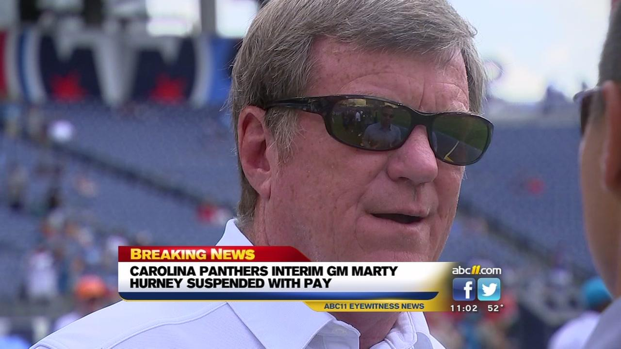 Panthers suspend interim GM Hurney