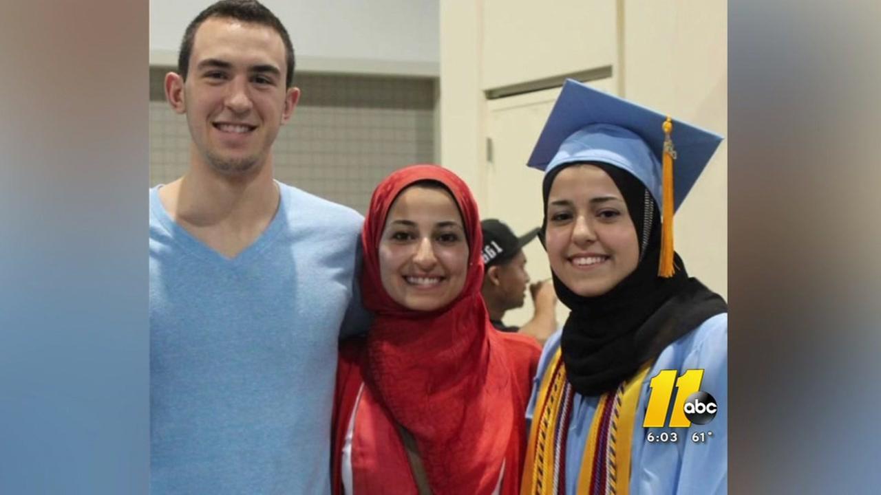 Raleigh community honors Muslim-American students killed 3 years ago
