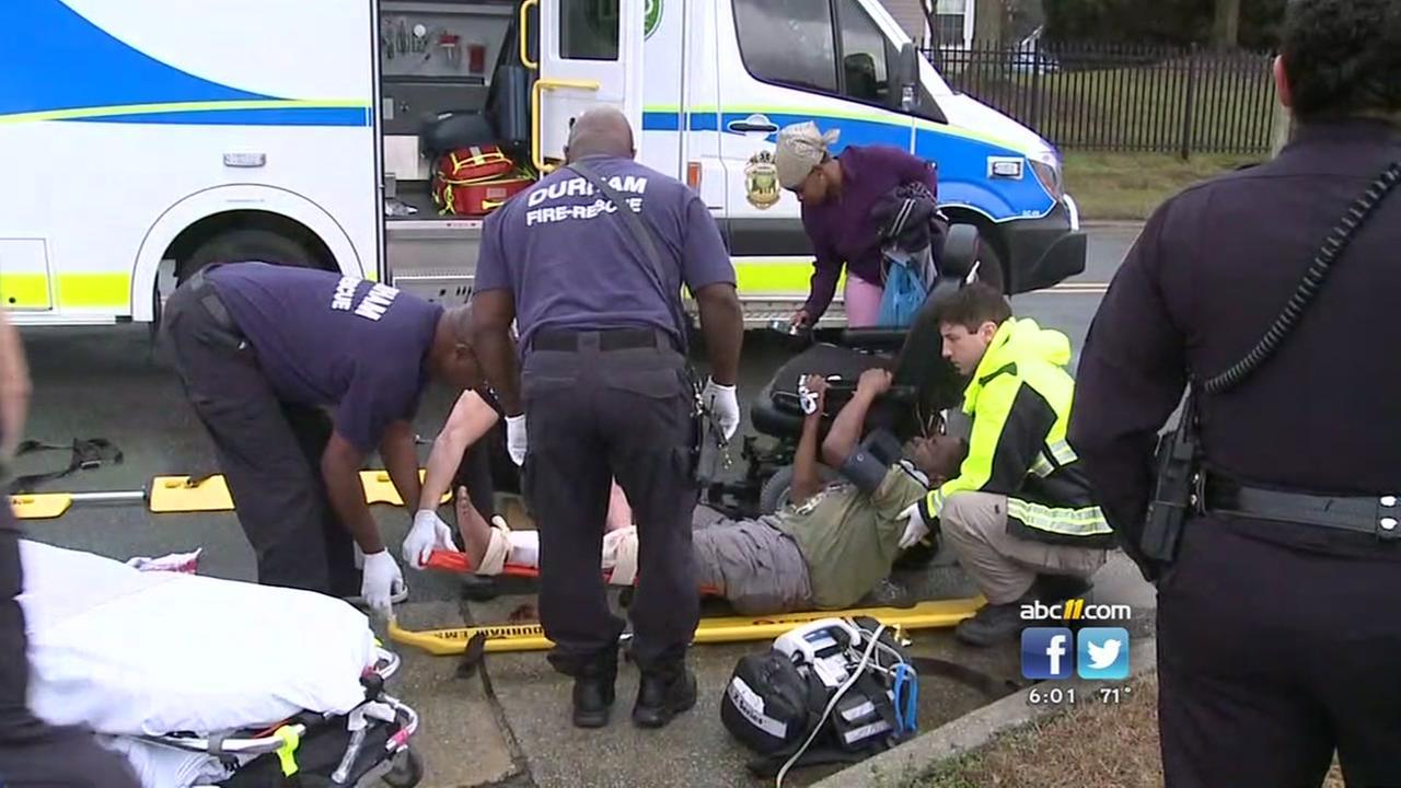 Man in wheelchair injured in Durham hit and run
