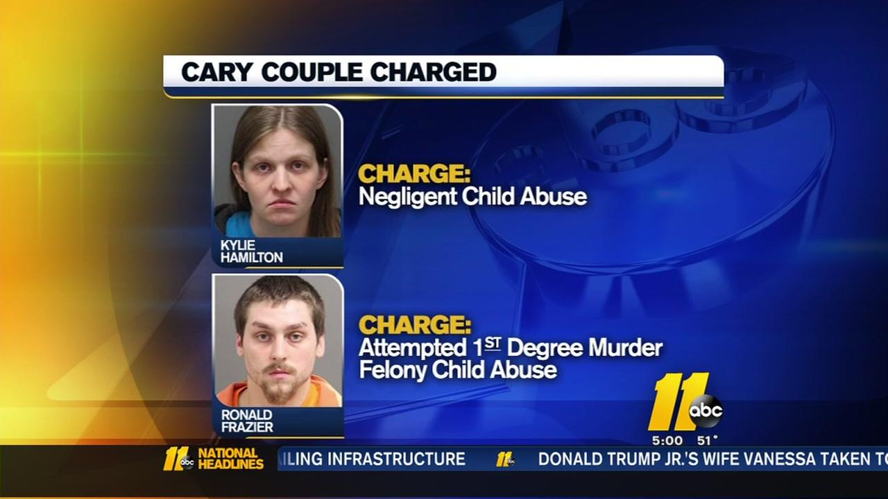Cary couple charged in child abuse case
