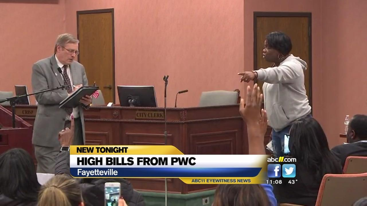 Angry residents vent about high PWC bills