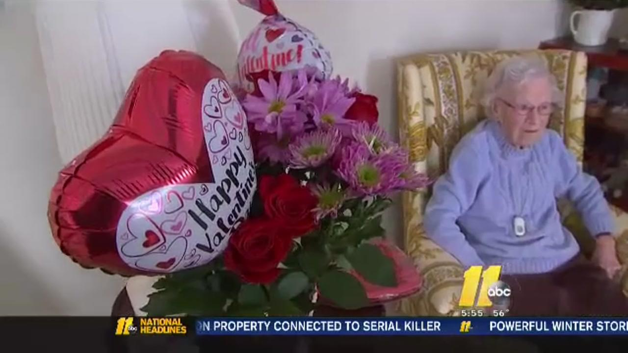 Visiting Angels surprise seniors with Valentines gifts