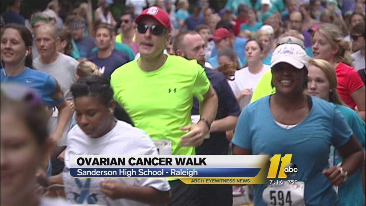 Raleigh walkers and runners raise money for ovarian cancer research