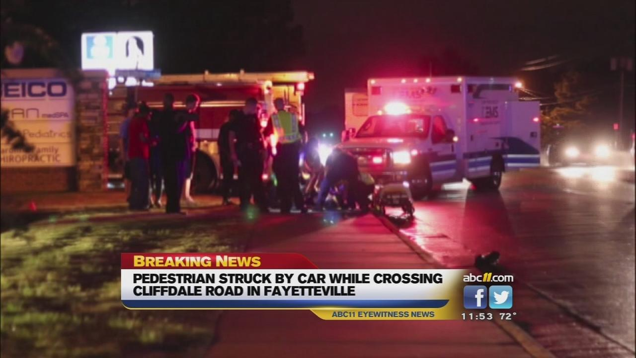 Fayetteville pedestrian hit by car