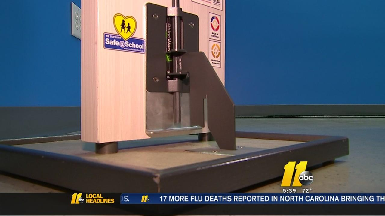 Durham company touts its door barricade system