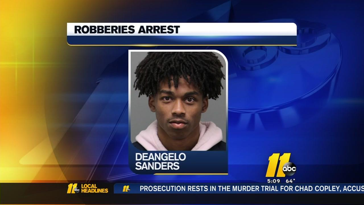 Arrest made in Raleigh crime spree