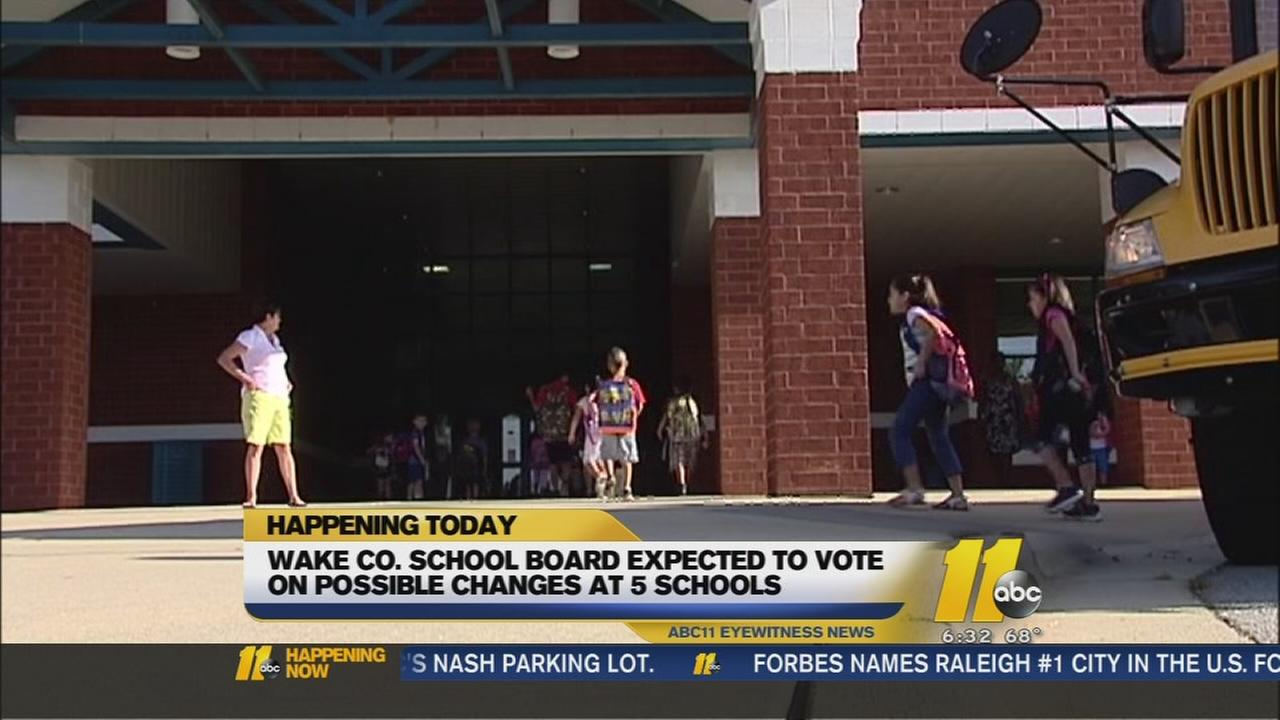 Five Wake Co. schools could face changes