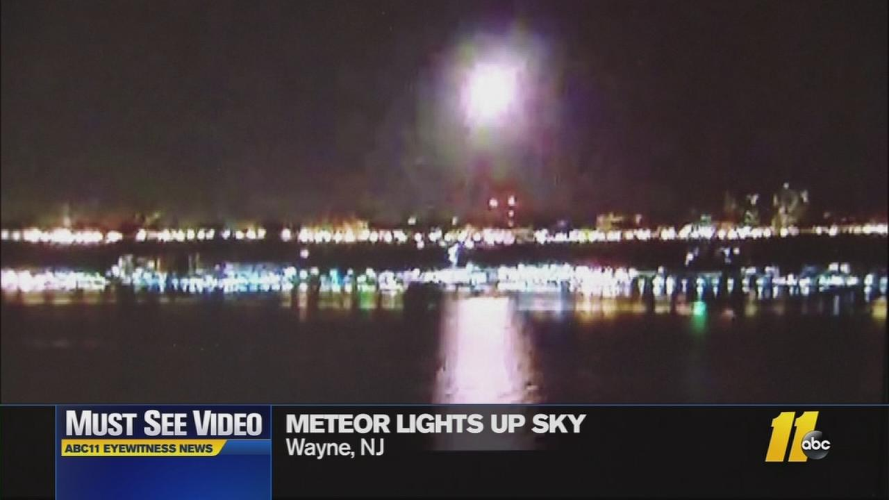 The meteor lit up the sky over Washington.