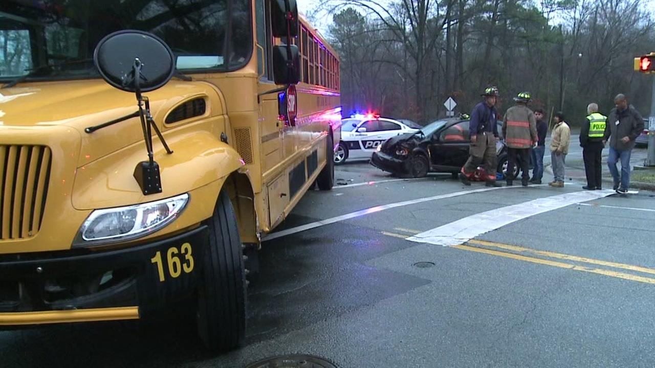 Durham police respond to bus crash