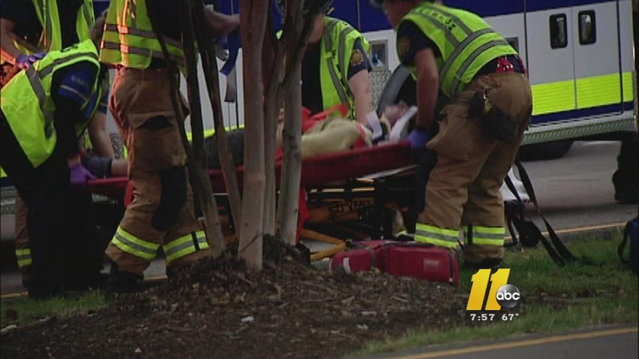 A man was hit by a vehicle in Raleigh early Wednesday