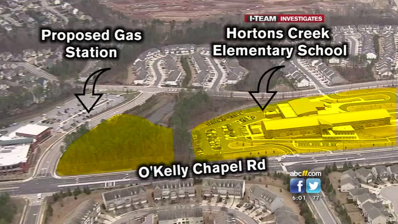 Cary neighbors unhappy about proposed gas station