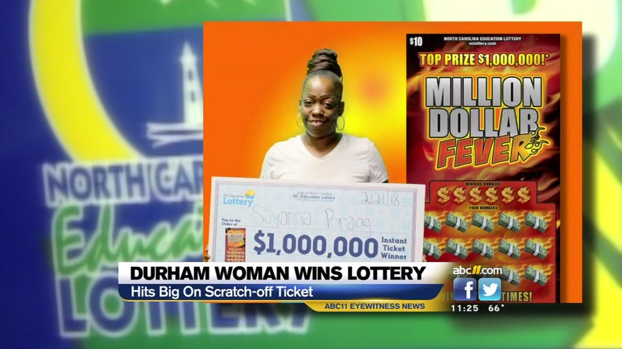 Durham woman wins a million in scratchoff