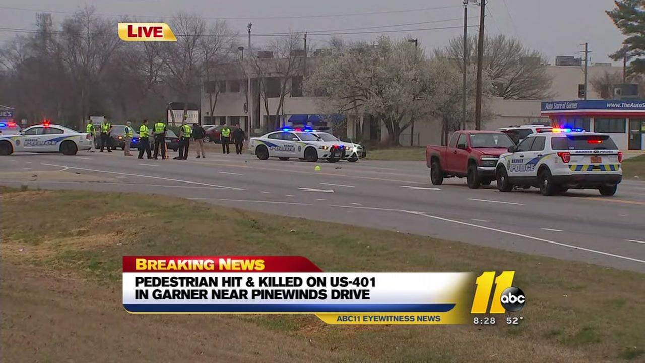 Pedestrian struck, killed on US 401 in Garner