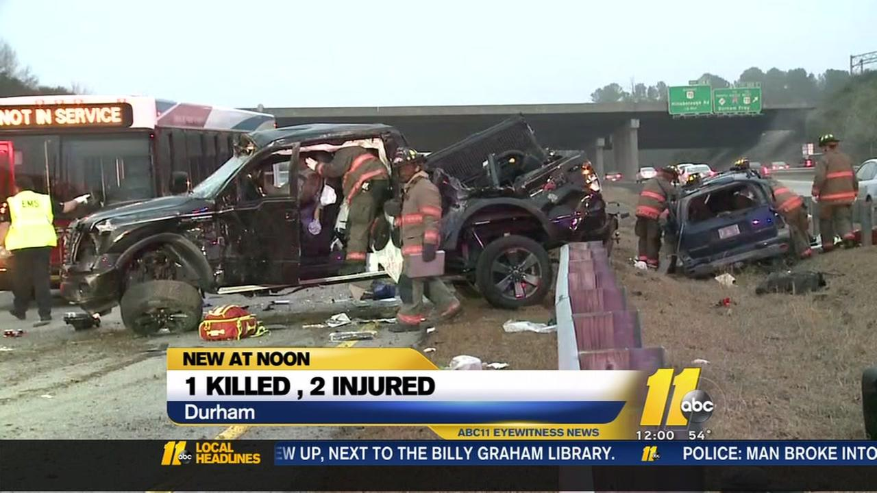 1 killed, 2 injured in multi-vehicle crash in Durham County