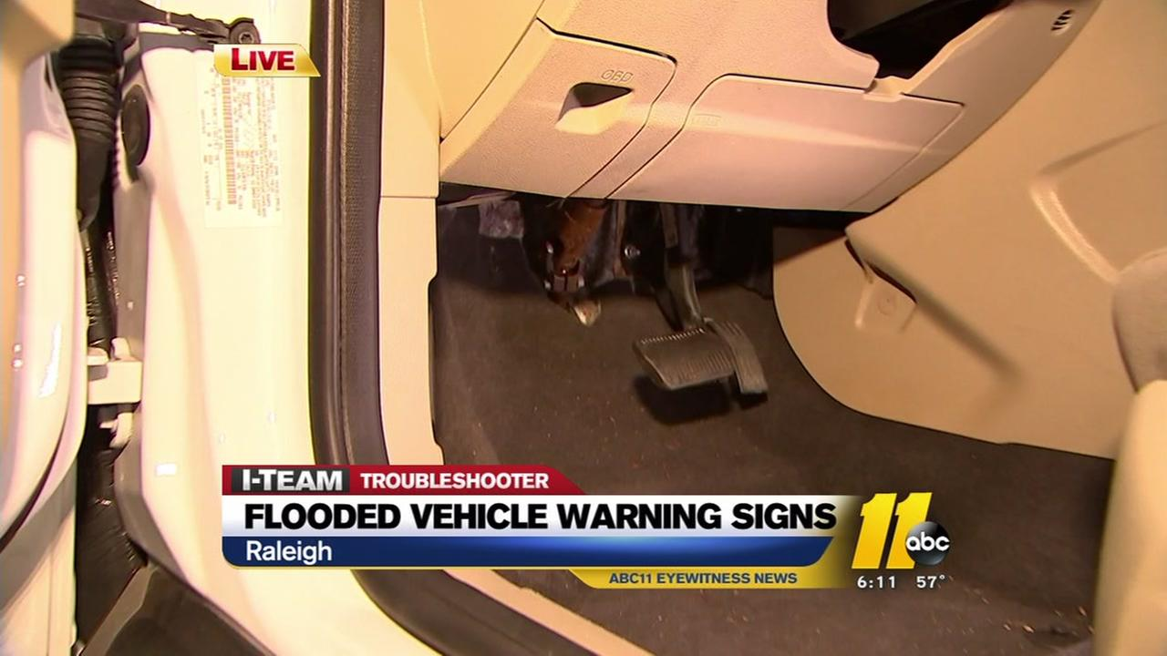Can you spot signs of a flooded vehicle?