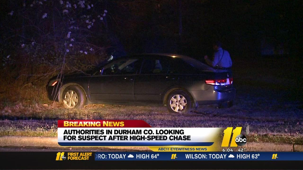 Durham County deputies searching for suspect after high-speed chase