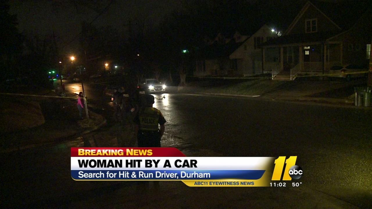 Woman struck by car in east Durham