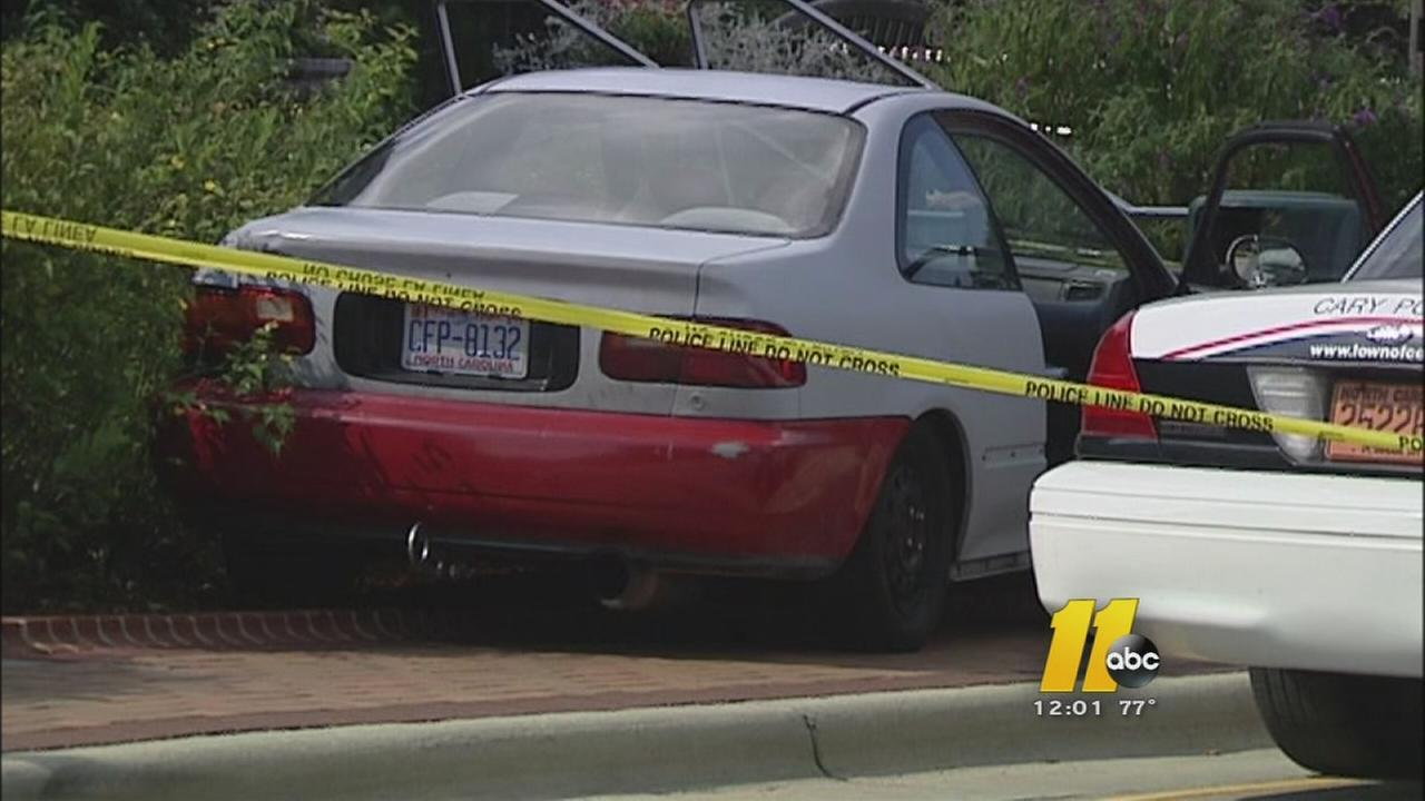 Police say two men in a car started shooting at a second vehicle
