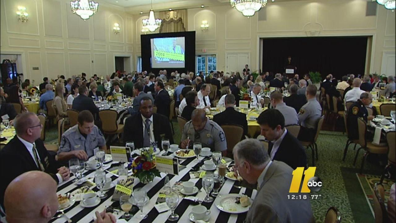 A special breakfast honored first responders