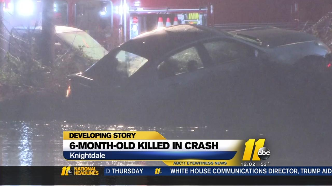 6-month-old pulled from submerged car in Knightdale dies