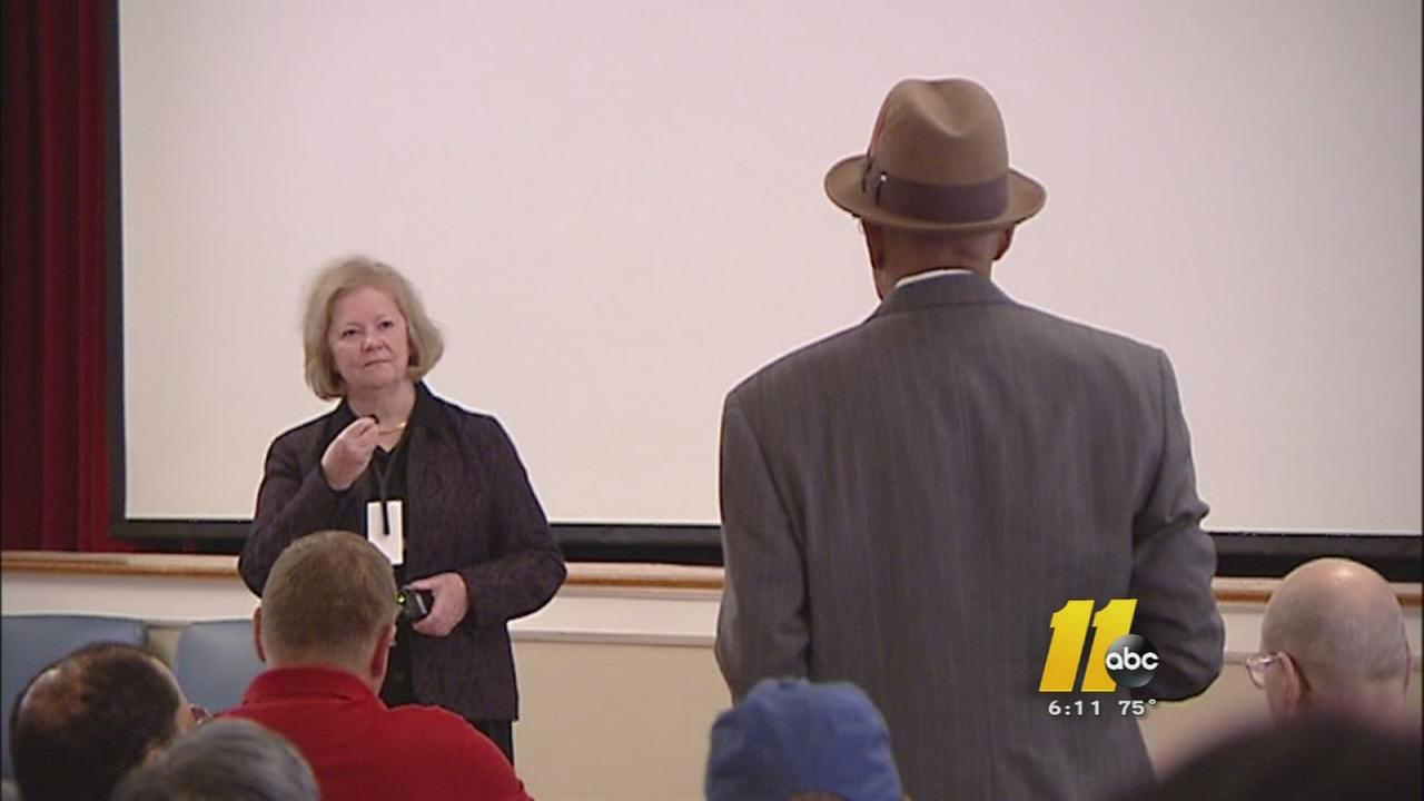 The Fayetteville VA Director took criticism from a room full of veterans during a town hall meeting.