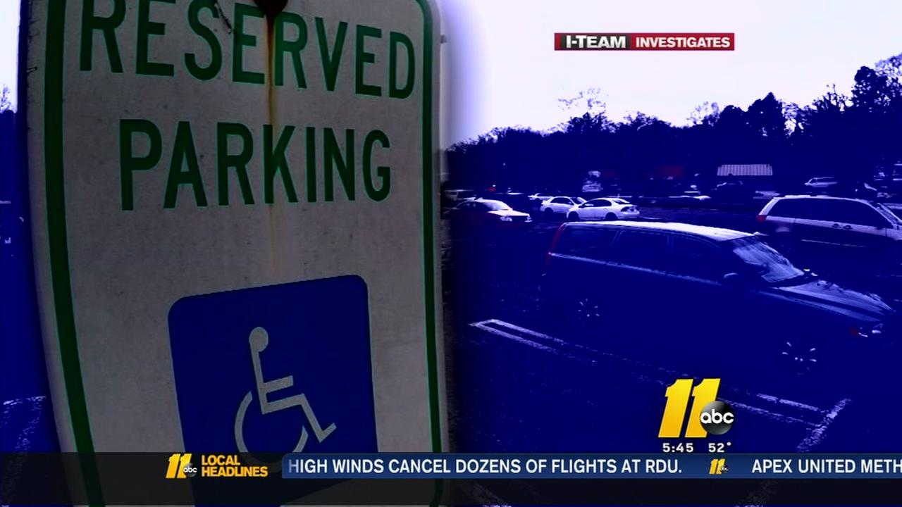 Handicapped parking violations rarely enforced