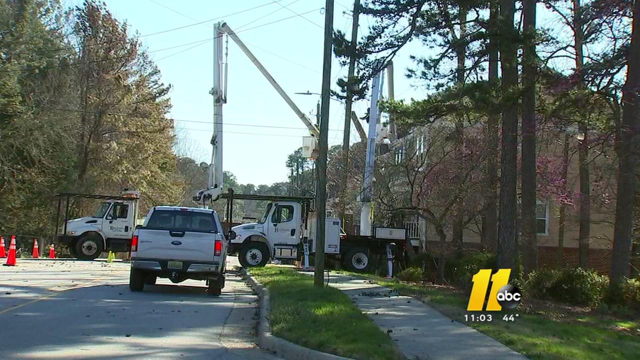High winds cause havoc in parts of the Triangle