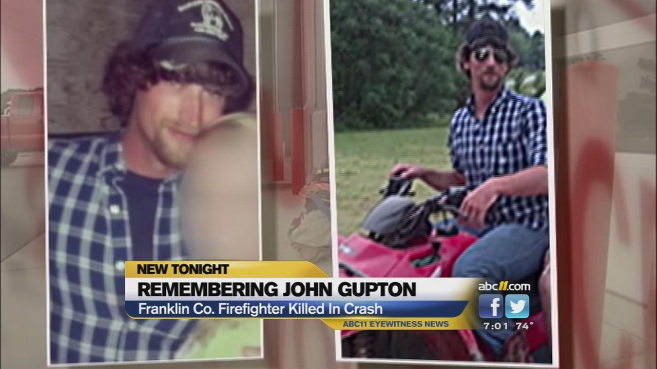 Firefighters from around the state joined the vigil to remember volunteer firefighter John Gupton.