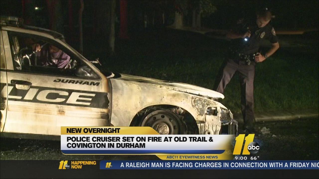 Durham police cruiser fire