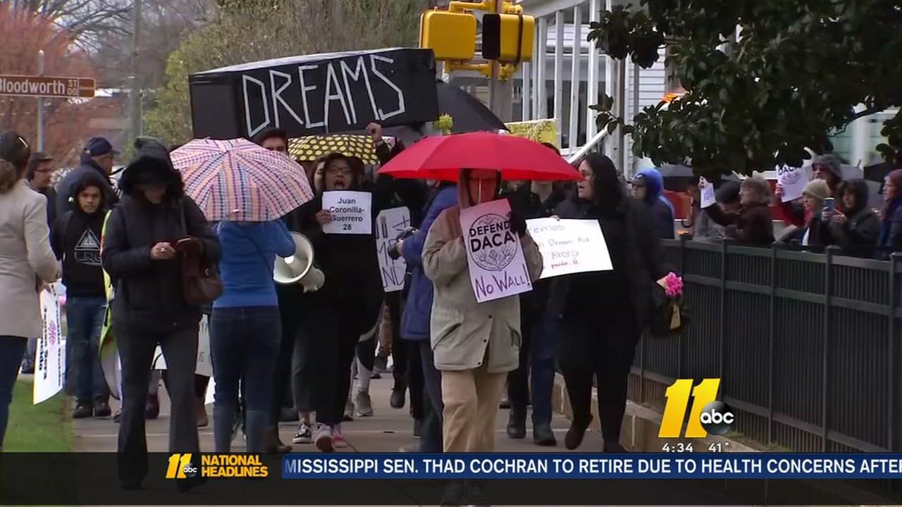 Dreamers demonstrate outside Tillis office
