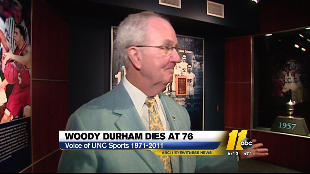Woody Durham, voice of the Tar Heels, dies at 76