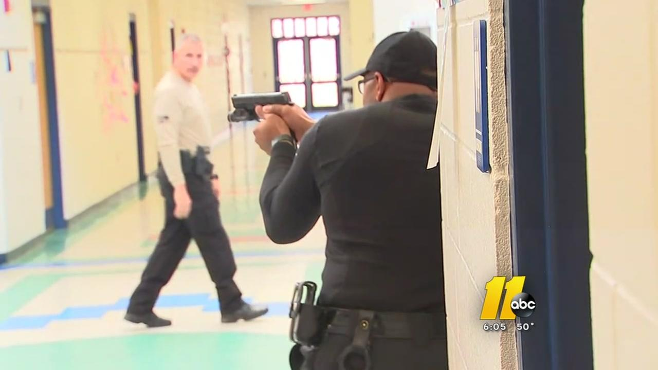 Nash County school resource officers train for active shooter