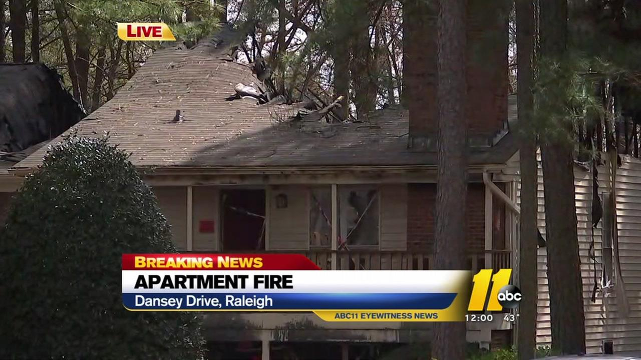 5 displaced after two-alarm fire breaks out at Raleigh apartment